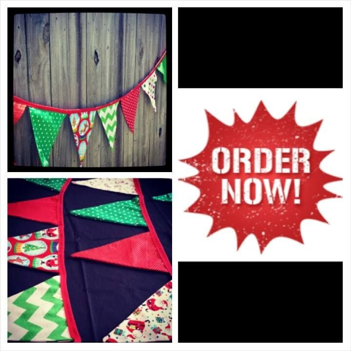 Loose that tacky tinsel and plastic decorations this festive season.  Christmas bunting is a beautiful addition to your home decor and will last generations gezam.creations@gmail.com