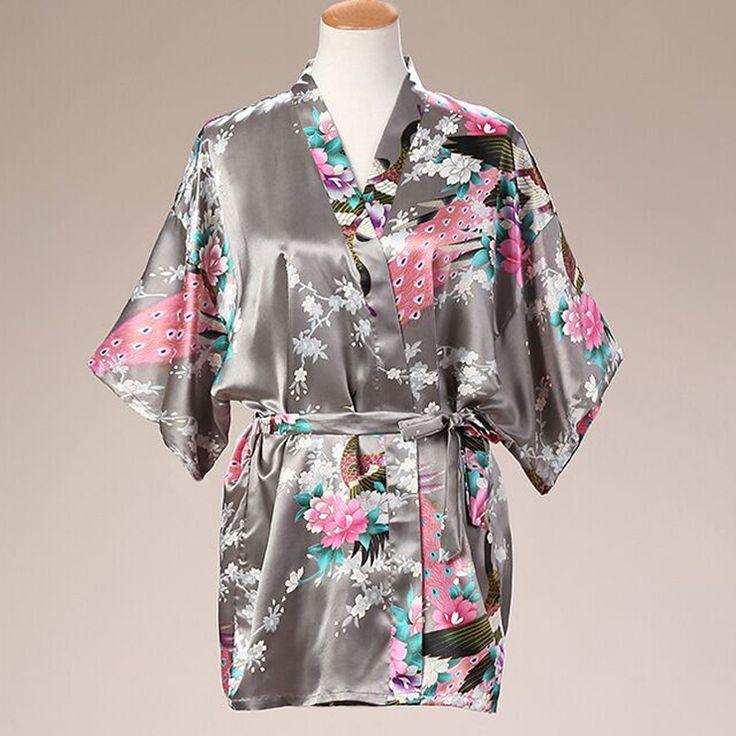 Plus Size Gray Ladies Summer Kimono Mini Robe Bath Gown Womens Bride Bridesmaid Wedding Dress Yukata Nightgown Pijama Mujer Md06. Yesterday's price: US $7.03 (5.79 EUR). Today's price: US $7.03 (5.79 EUR). Discount: 63%.