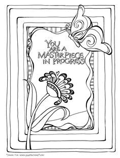 A Sample Coloring Page From The New ZenspirationsR Birds Butterflies Book