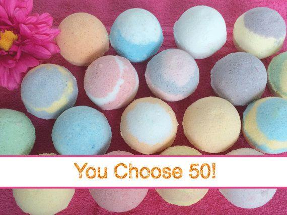 FREE SHIPPING 50 Bath Bombs Wholesale Bulk by FabulousMomma