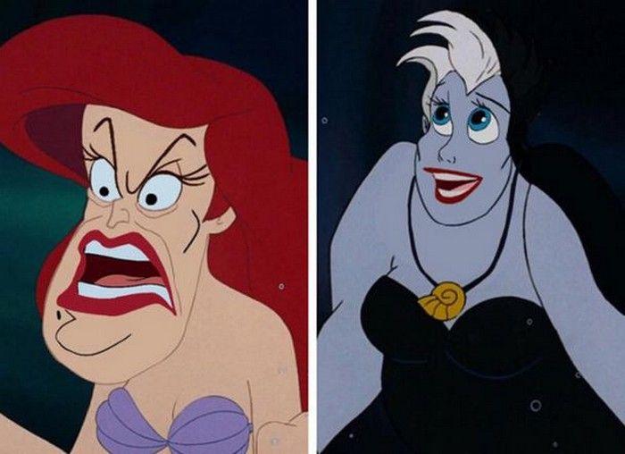 Disney Face Swap : Ariel et Ursula