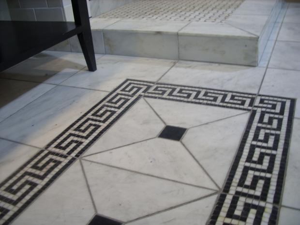 Greek Inspired Marble Tile Rug Pattern Greek Rug Tile