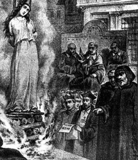 The dark side of the Middle Ages. Inquisitions (1300-1400s) were the church's effort to eradicate heresy. They went around from town to town finding people they believed were heretics and put them on trial. The most famous part of this was the witch hunt where they suspected innocent people, mainly women, to be witches and put them to death.: