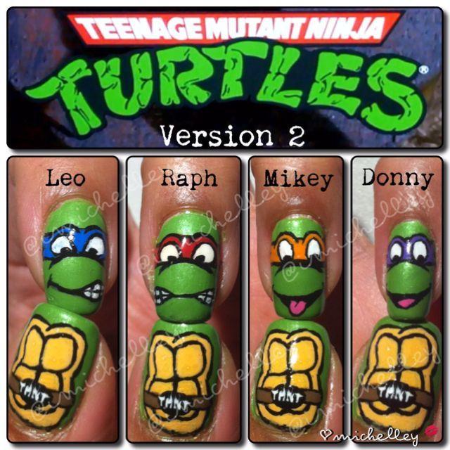 TMT Turtles nagels