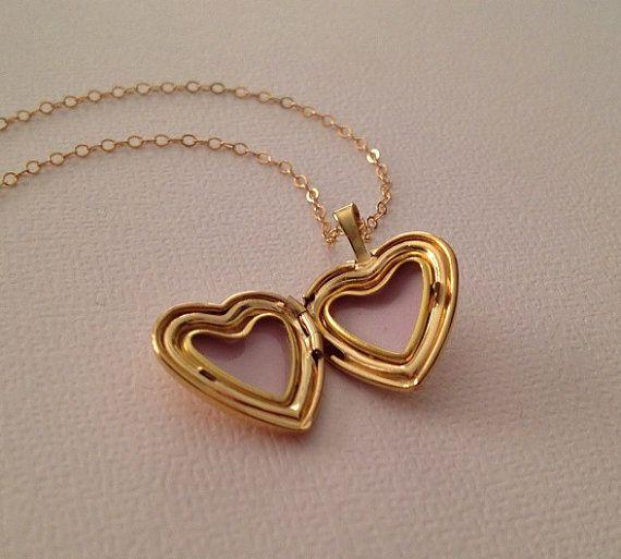 Collar medallón de oro-corazón collar medallón en oro-collar