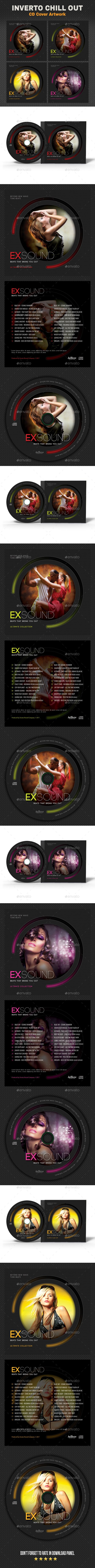 Exsound Music CD Cover Template PSD