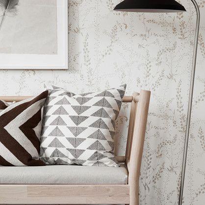 Tapet med bladranker designet af danske Arne Jacobsen.