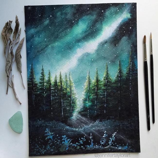 Manzara Resimleriyle Gerceklik Ve Hayal Dunyasi Arasindaki Buyulu Kopru Jennifer Taylor Sanatli Bi Blog 2020 Sanat Tuval Sanati Cizimler