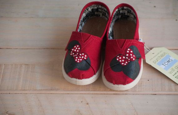 Hey, I found this really awesome Etsy listing at https://www.etsy.com/listing/248738058/minnie-mouse-tiny-toms TOMS