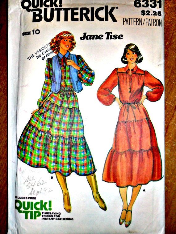 Misses Tiered Western Style Dress and Vest by stitchingbynumbers, $6.00