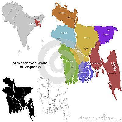 Bangladesh map by Indos82, via Dreamstime