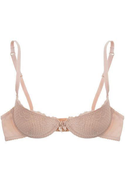 """""""A lot of padded bras out there have very little support in the back, which causes the riding-up effect,"""" Lau explains. A general rule of thumb for discerning shoppers: """"The more padded a bra is, the more support there should be in the sides and back."""" Duet By Timpa Lace Half-Cup Padded Bra, £36.35, available here. #refinery29 http://www.refinery29.uk/bras-small-boobs#slide-2 - micro lingerie, lingerie body, lingerie lace bra *ad"""