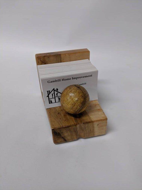 Vintage Birdseye Maple Card Case Vintage Handmade Wooden Inlay Business Card Holder SALE