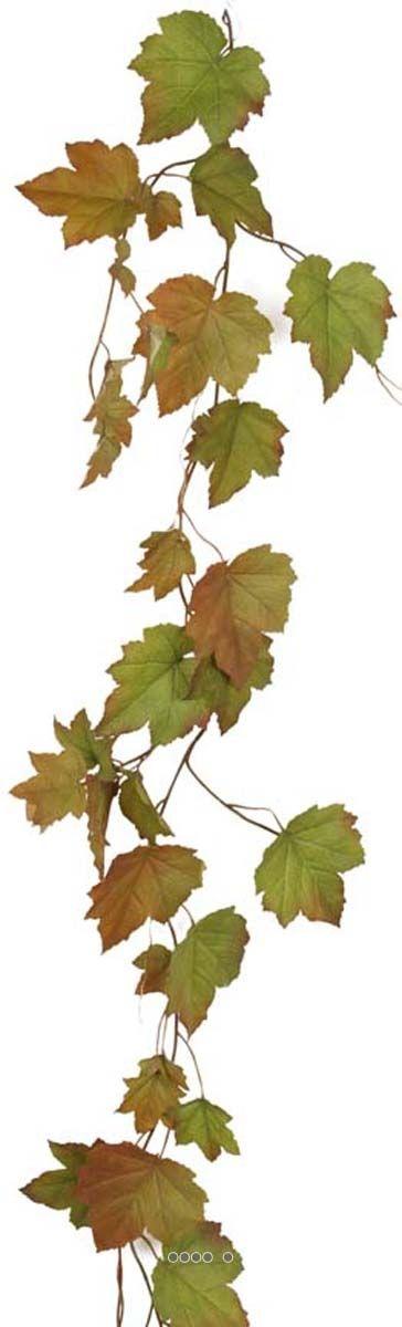 Guirlande feuille de vigne automnale artificielle 120 cm du site Artificielles.com.