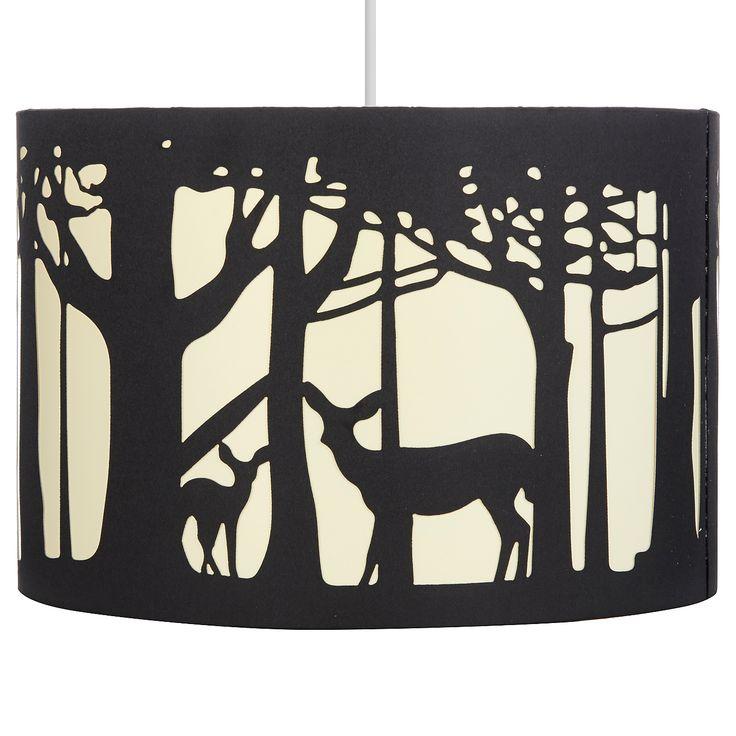 George Home Black Deer Silhouette Lampshade | Lighting | ASDA direct