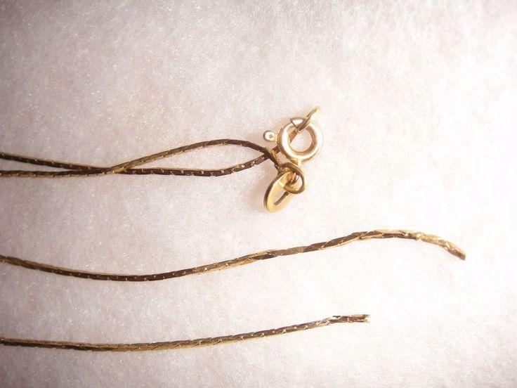 333 Gelbgold Goldkette Halskette 9 Karat Verschluss Federring mittig offen