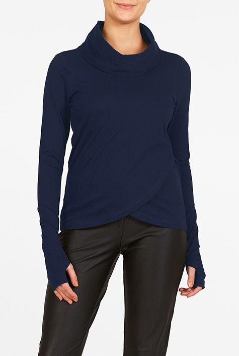 I <3 this Tulip hem cotton knit top from eShakti