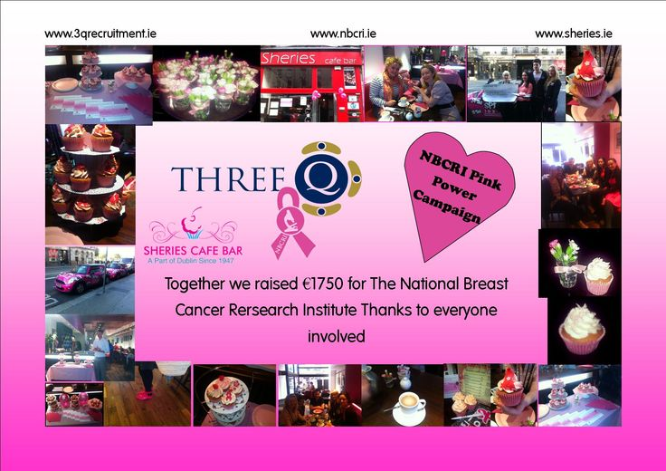 Three Q are proud to to have helped such a worthwhile charity like NBCRI. With our Coffee and Cupcake morning we raised a total of €1750