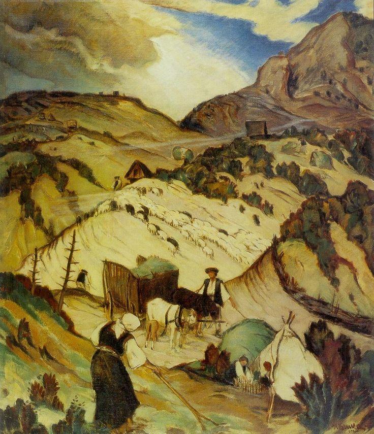 Na liptovských holiach, 1922, Martin Benka. Slovak (1888 - 1971)  Via: [Ag] Múzeum