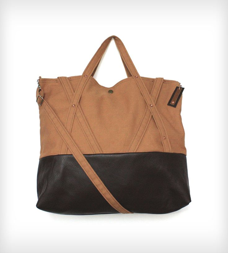 Leather & Canvas Weekender Bag | Women's Bags & Accessories | Ian James New York | Scoutmob Shoppe | Product Detail