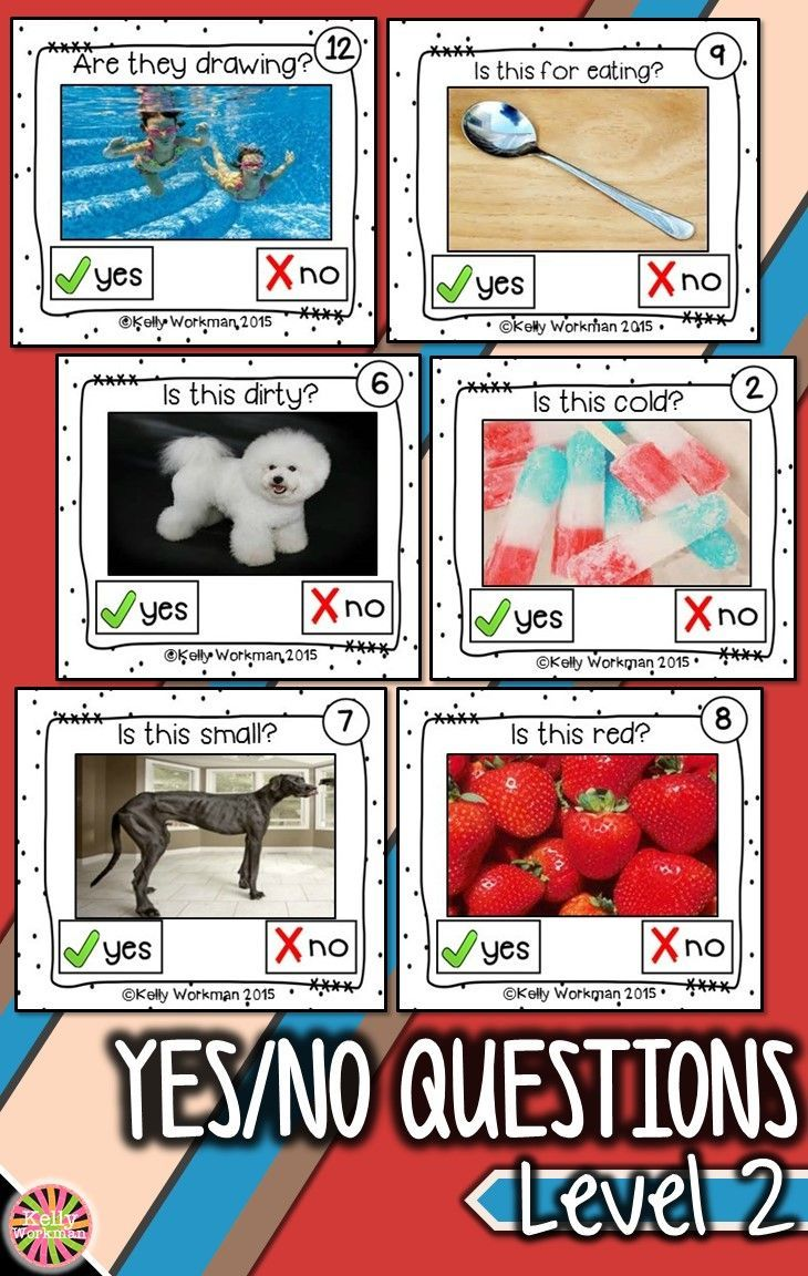 Need materials to help students answer complex yes – no questions? Develop this early language skill by using photo flashcards which are perfect for speech therapy, special education, autism, ELL, and Preschool. Click to see the full set and to download a free guide for flashcard games and activities!