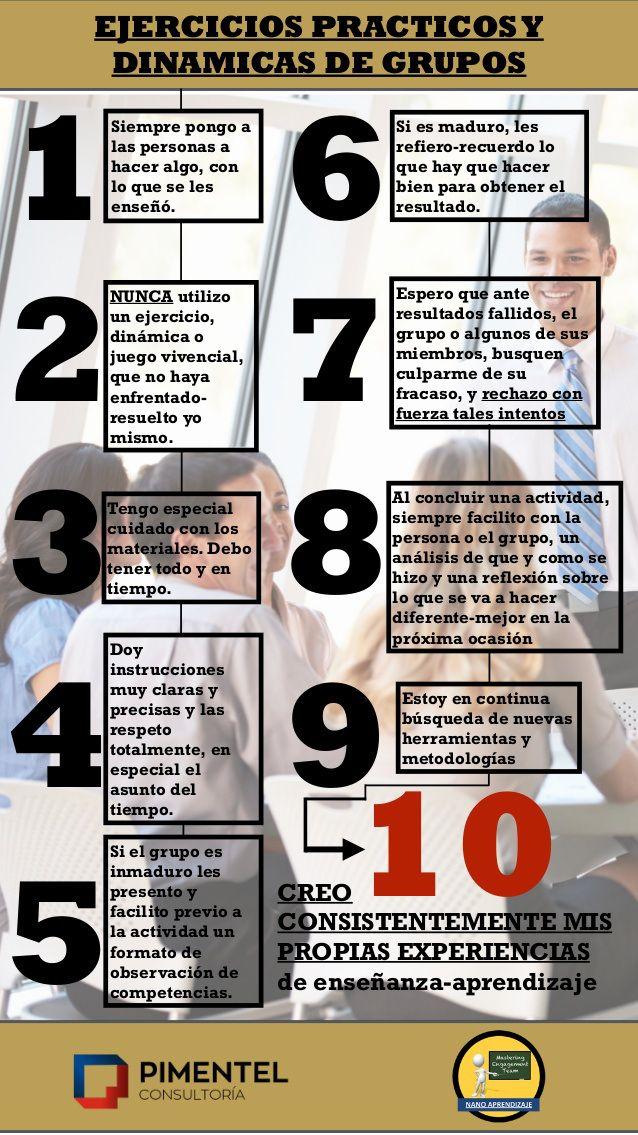 Ejercicios prácticos y dinámicas de grupos en el aula #infografia #education