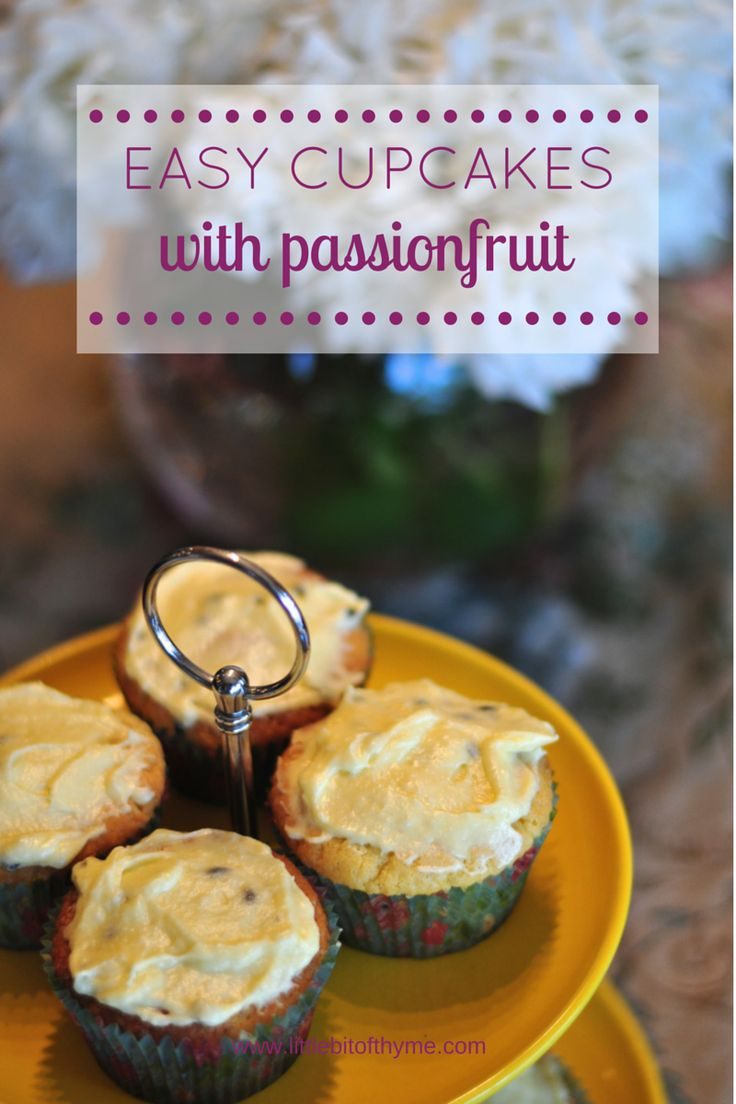 Easy Cupcakes with Passionfruit {Everyday and Thermomix Recipe}