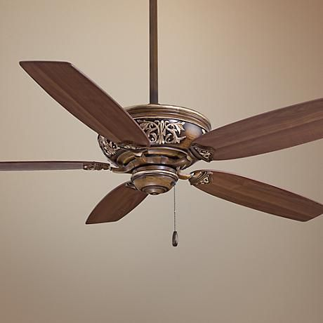 54 Minka Aire Classica Belcaro Walnut Finish Ceiling Fan