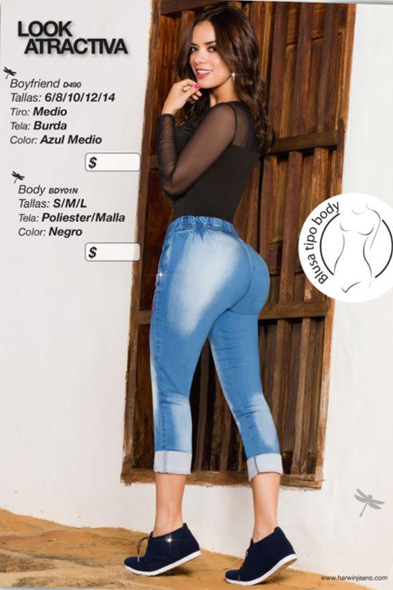 Hermoso jean boyfriend, tiro medio  Referencia: D490 Tallas: 6,14 Color: Azul Medio Precio: $67000 Visítanos en www.comercializadoravyp.com