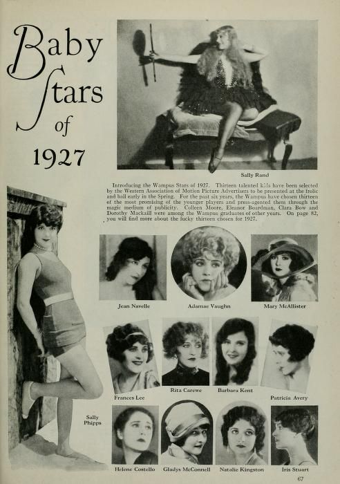 Image result for WAMPAS BABY STARS 1927