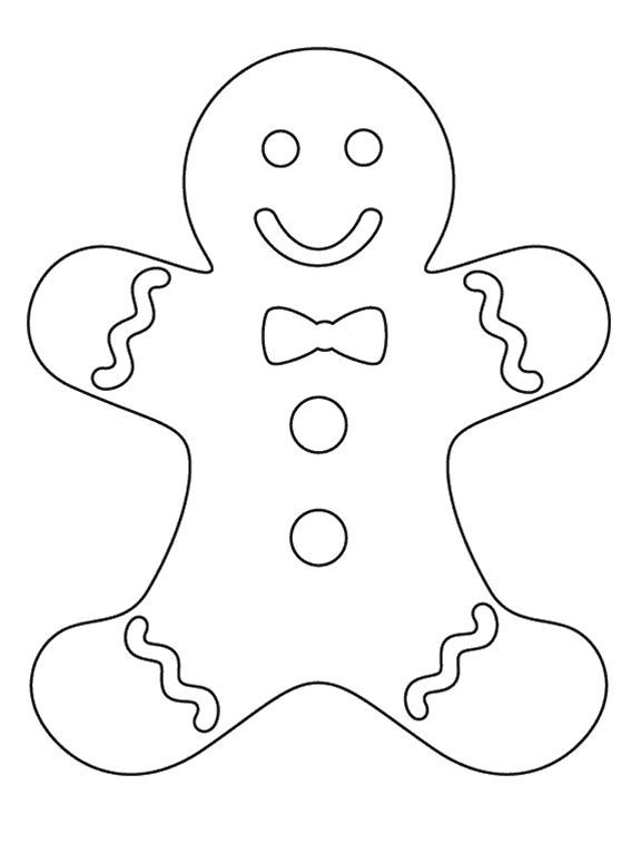 gingerbread coloring book pages - photo#23