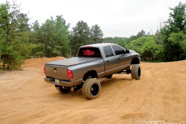Lifted Jacked Dodge Ram 2500 Truck