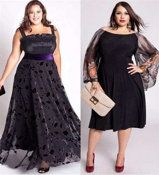 Новогоднее платье для пышных дам