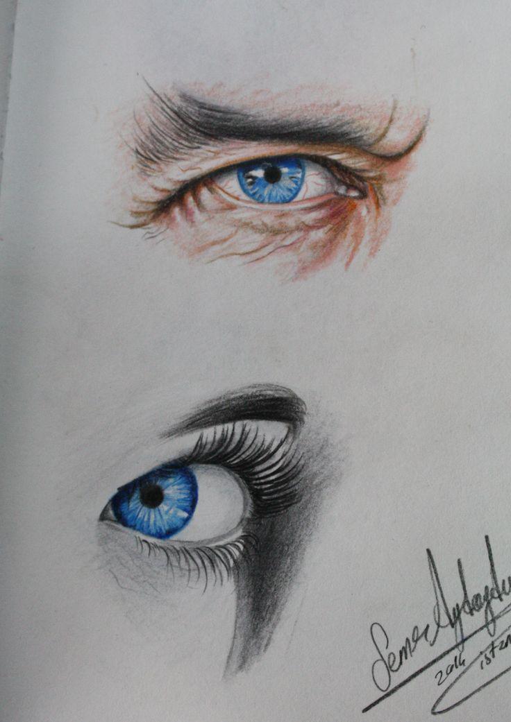 göz çizimleri,