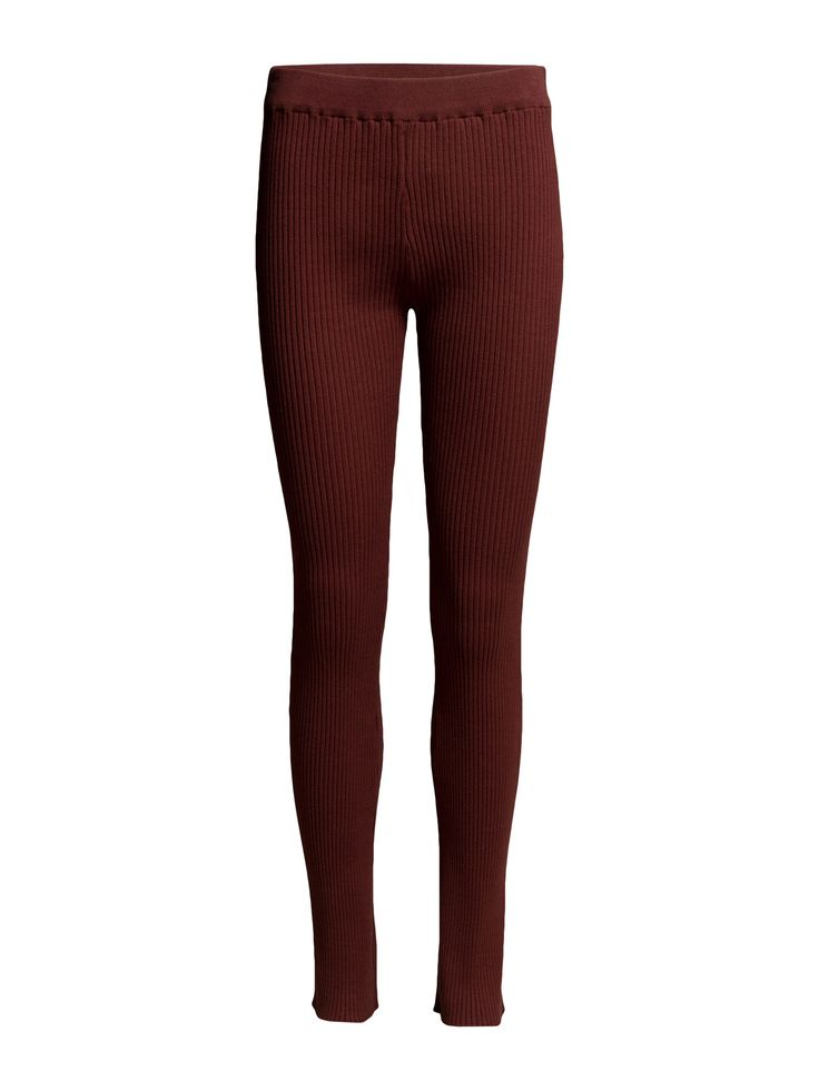 DAY - 2ND Rebi DAY - 2ND Rebi Ribbed fabric Elastic waistband Stretch fabric Chic Excellent quality and fit Functional Simple Pants Trousers Leggings