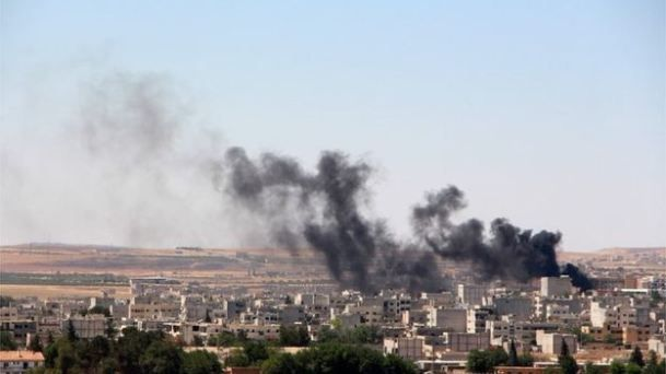 SYRIA and IRAQ NEWS: #Kobane #Cizire Update 107 - Battle Against Islamic State in Kobane Has Continued With Rising Death Toll, Mainly Civilians. *For More #Iraq and #Syria News ...* http://www.petercliffordonline.com/syria-iraq-news-5 PIC: Black smoke rises Over Kobane Once Again: