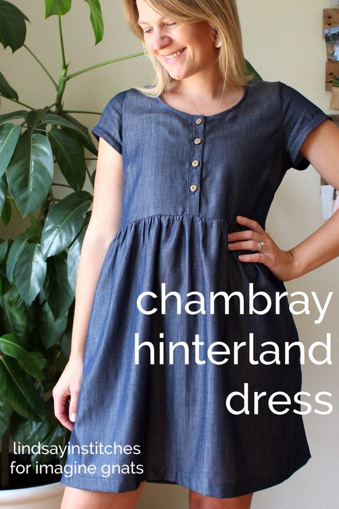Sewing Tencel Cotton Chambray Hinterland Dress Blouse Pattern Sewing Tencel Dress Dresses
