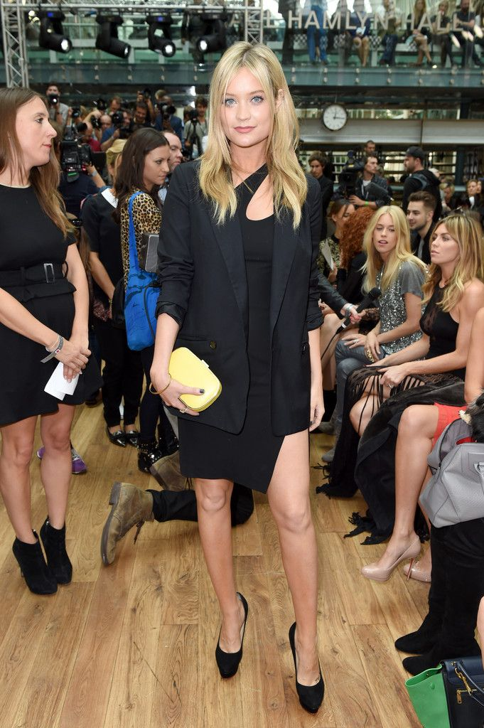 Laura Whitmore - Front Row At Julien Macdonald London Fashion Week SS15
