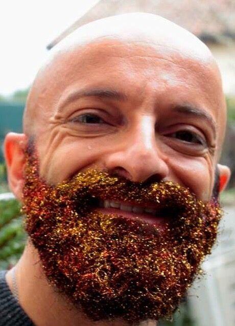 #beard #thegaybeards #glitter #fashion #men