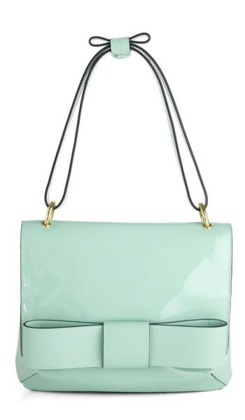 Carry this bag — in classic robin's egg blue — when you have breakfast at Tiffany's. From modcloth.com