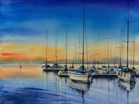 Sailboats by Eve Mazur
