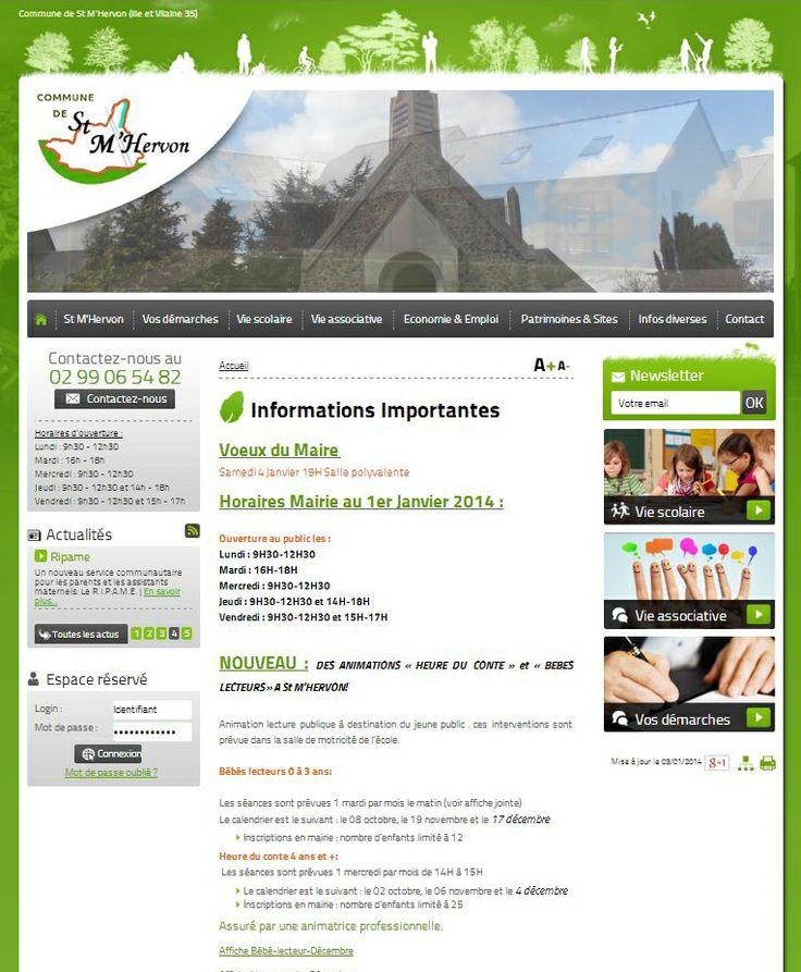 Site internet de la mairie de St M'Hervon en Ille et Vilaine, commune faisant partie de la Communauté de Communes de Montauban-de-Bretagne / Saint-Méen-le-Grand
