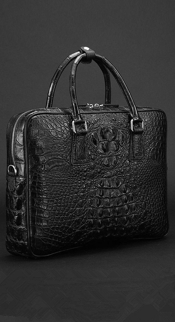 1a6eadf36 Crocodile leather briefcase, alligator leather briefcase, luxury briefcase  for men