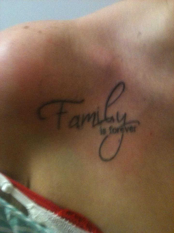 Second Tattoo, Family is Forever!