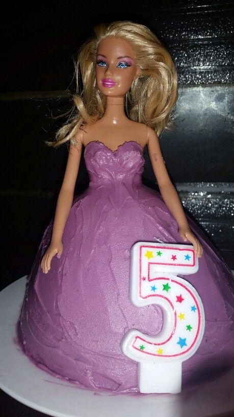 Miss Ns 5th Birthday Purple Dolly Varden Cake
