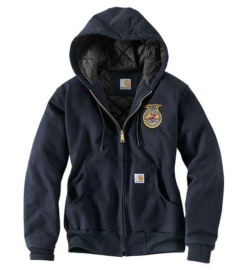 Womens hooded FFA Carhart jacket