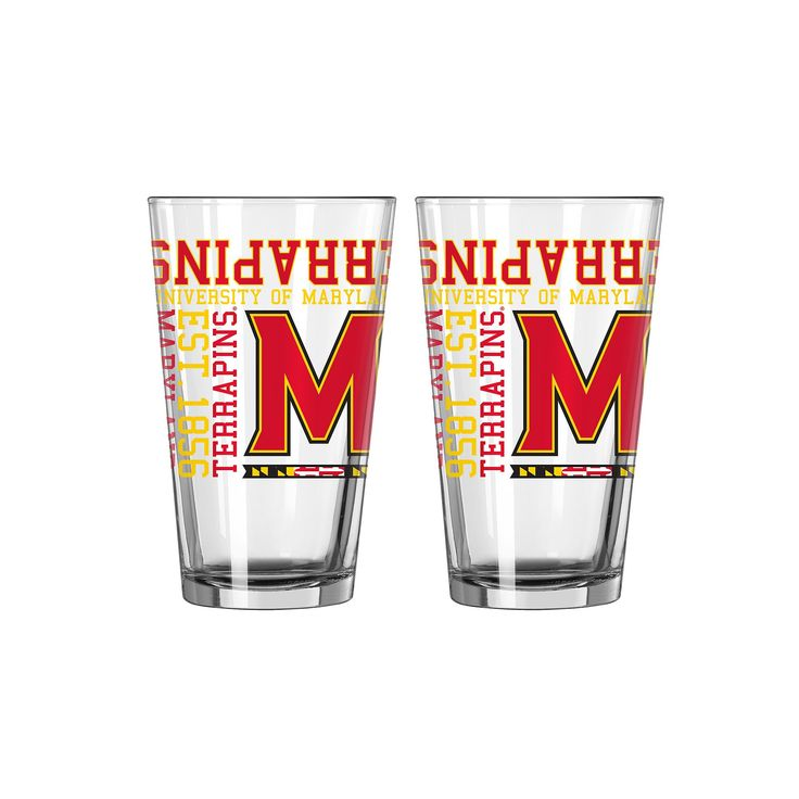 Boelter Maryland Terrapins Spirit Pint Glass Set, Multicolor