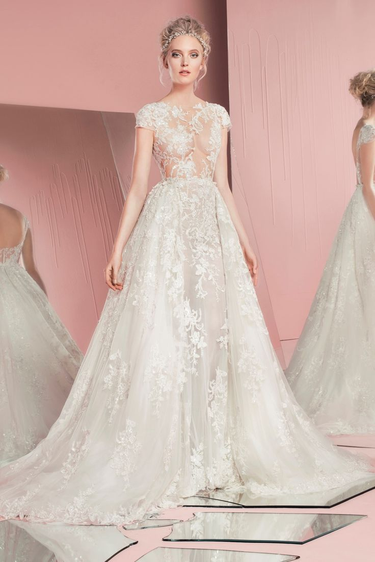 Zuhair Muirad Perla (with Overskirt) exclusively available in Australia at Helen Rodrigues Sydney