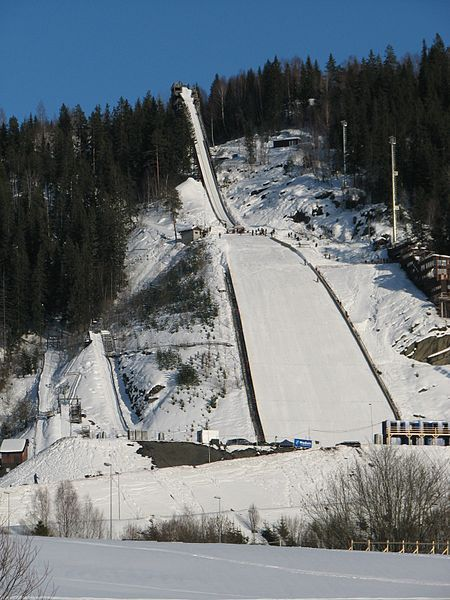 Vikersundbakken in Modum, Norway is the world's largest ski jumping hill. (Picture taken before it was reconstructed in 2010/2011)