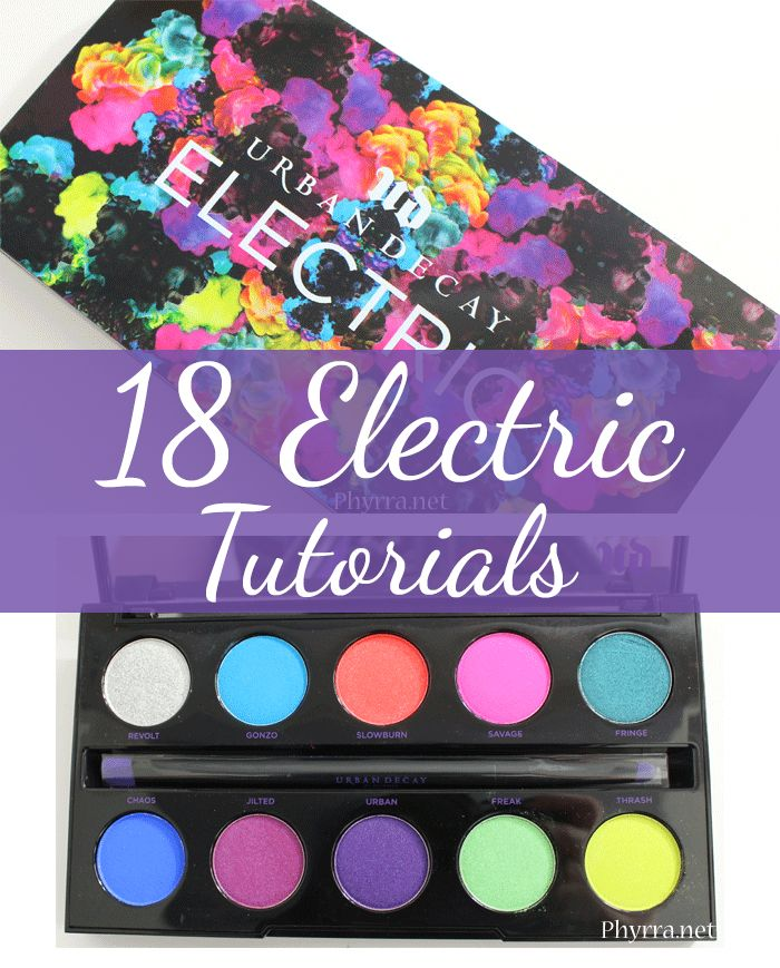 Urban Decay Electric Palette Love - I've rounded up 18 pretty tutorials plus a few looks featuring the UD Electric palette! Enjoy some brights this Summer!